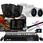 4 Zxtech Camera Recorder 3G UK LED NightVision Full HD Steel Wide Angle CCTV Kit