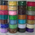 Wired Edge Organza Chiffon Ribbon 50mm wide 2 / 5 / 20 metres Choose Colour