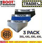 TRADIE MEN'S UNDERWEAR. BIG FELLA BRIEFS - 'FRESH'. 3 PACK - UNDIES FOR BIG GUYS