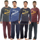 MENS PYJAMAS LONG SLEEVE SOFT JERSEY COTTON AND POLYESTER