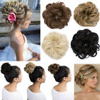 US Women Lady New Pony Tail Hair Extensions Bun Hairpiece Scrunchie As Human FF7
