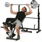 weight of bench press bars - Olympic Weight Bench Set CAP Barbell Deluxe With 100Lb Weights Lifting Bar~Press