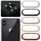 FOR APPLE IPHONE X REAR BACK CAMERA LENS PROTECTIVE RING COVER + TEMPERED GLASS