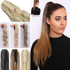 Deluxe Thick Clip in Hair Extensions Claw Ponytail Pony Hairpieces as human FR7