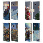 OFFICIAL LONELY DOG CHRISTMAS LEATHER BOOK WALLET CASE FOR SAMSUNG PHONES 1