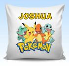 Personalised POKEMON Cushion Cover Christmas Birthday Gift Any Name - Design 1