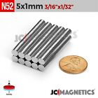 "Внешний вид - 25 100 1000pcs 5mm x 1mm 3/16""x1/32"" N52 Rare Earth Neodymium Small Magnet Disc"