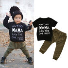 Newborn Baby Boys Girl Short Sleeve T-shirt+Long Pants Leggi