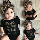 Baby - US Stock Newborn Baby Girls Romper Bodysuit Jumpsuit Headband Outfits Clothes