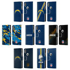 OFFICIAL NFL LOS ANGELES CHARGERS LOGO LEATHER BOOK CASE FOR APPLE iPHONE PHONES