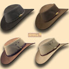 australian leather - ■ Suede Leather Mesh Jacaru Hat Cowboy Australian Stetson-Style Men Golf Outback