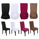 6Pcs Removable Stretch Chair Cover Slipcovers Dining Room Chair Stool Seat Cover