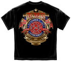 xx ff - Firefighter T-Shirt Badge Of Honor Black