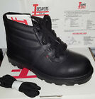 Chukka Safety Work Boots Leather Steel Toe Cap Mens Womans Anti Shock Heel