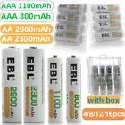 Kyпить EBL Lot of AA AAA NI-MH Rechargeable Batteries 2800mAh 2300mAh 1100mAh 800mAh на еВаy.соm