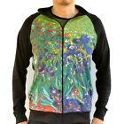 Vincent Van Gogh Irises Sweater Track Jacket Shirt Top Mens Fine Art Print Zip