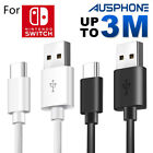 Nintendo Switch USB Charger Charging Power Cable Cord for Nintendo Switch 2M 3M