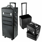 Aluminum 4 in1 Interchangeable Rolling Makeup Case Cosmetic Train Box Trolley