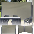 Sunnydaze Retractable Privacy Wall Side Awning w/ Support 10' x 6' - Choose Size