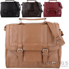 Womens / Ladies Leather Work / Travel Satchel / Messenger / Shoulder Bag