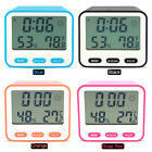 Electronic LCD Digital Alarm Clock Thermometer Hygrometer Timer Humidity Display