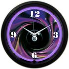 Neon Billiards Wall Clock 8 BALL Pool NOT LED Game Room Bar Pub Lighted Dial NEW £39.99 GBP on eBay