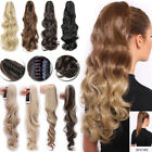 Jaw Claw On Ponytail Real Thick As Human Hair Extensions Clip In Fake Hair FH9