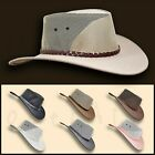 oZtrALa  Jacaru HAT Pu-Suede Leather Mesh Men Mens Womens Cowboy Golf Outback