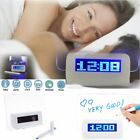 New Blue Green LED Fluorescent Digital Alarm Clock Message Board USB 4 Port Hub