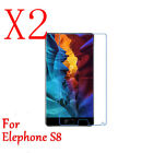 1/2x 9H HD Tempered Glass Protector Film For Elephone S8 Anti-Scratch/Shatter
