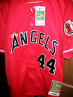 Brand New California Angels Throwback 44 Reggie Jackson sewn RED Jersey trout
