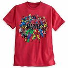 Disney Store Men's M, 2XL MARVEL UNIVERSE Red Heathered Tee NWT