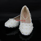 Womens Wedding Lace Flower Marry Bridal Bridesmaid Strap Heel Shoes Size 3-7