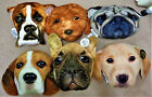 3D Plush Dog Face Pillow Beagle-Labrador-French Bulldog-Goldendoodle-Pug