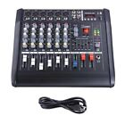 DJ Studio Power Mixer Amplifier 16DSP LCD Recording USB Slot 4 6 8 10 Channel