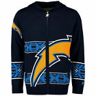 Los Angeles Chargers Klew Big Logo Full-Zip Hoodie - Navy $89.99 USD on eBay