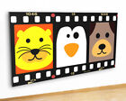 M524 Animals Nursery Lion Penguin Canvas Picture Poster Wall Art Stickers Room