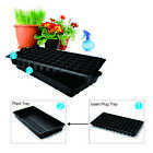 72-Cell Seed Planting Insert Plug Tray + Plastic Plant Tray for Seed Germination
