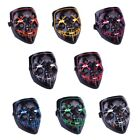 Cosplay Funny Mask Full Face Covered LED Costume Mask EL Wire Light Up Mask New