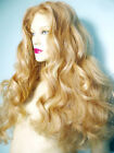 Blonde Mix 613/27 Curly Wavy Glueless Lace Wig Human Hair Remi Remy