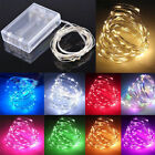 10/20/30/50/100 LED Fairy String Lights Copper Wire Battery Powered Light Party