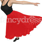Spanish Dance Practice Red Skirt Single Frill Flamenco Ballroom Traditional