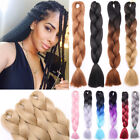 5PC Full Head Jumbo Braids Twist Crochet in Hair Extensions 105g/pack Brown F6W