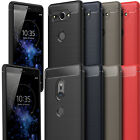 For Sony Xperia XZ2 & XZ2 Compact Carbon Fibre Brushed Soft Gel Case Cover TPU
