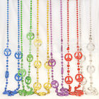 Hippie 60s 70s Peace Sign CND Hippy Necklace Fancy Dress Costume Accessory NEW