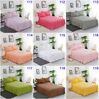 100%Cotton Queen King Size Pleated Valance Bed Skirt Set Bedding Pillowcases New