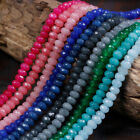 """4x6mm Natural Faceted Jade /Ruby /Agate Gemstone Rondelle Loose Beads 15"""" AAA"""