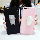 Lovely Women Girls 3D Lazy Cat Soft TPU Phone Case Cover for