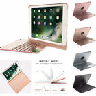 7 Colors Backlit Bluetooth Keyboard 360 Rotating Case Cover For iPad 5th 6th Gen