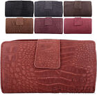 Ladies / Womens Genuine Leather Bi-Fold RFID Protected Clutch / Matinee Purse